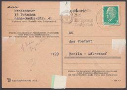 Ganzsachenausschnitt Aus P 71 Auf Selbst Gemachter Antwortkarte, Bedarf, 1965 - DDR