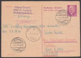 P 74 A, Retour Aus Kopenhagen, Kein Text - Postkarten - Gebraucht