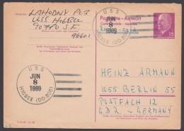 "P 74 A, Retour Aus USA, Stempel ""USS Higbee"" - DDR"