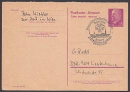 P 74 A, Retour Aus Wien, Dek. Sst., Kurzer Grußtext - DDR