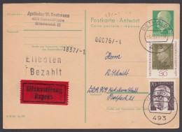 P 77 A, Mit Zusatzfr. Bund, Per Eilboten Aus BRD Retour, Bedarf - Postkarten - Gebraucht