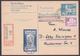 P 80 Mit Pass. Zusatzfrankatur Als R-Karte, Kein Text - Postkarten - Gebraucht