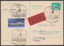 P 84, Bedarf Mit Dek. Zusatzfrankatur Per Eilboten - DDR