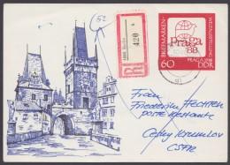 P 99, Portoger. R-Karte In Die CSSR Und Retour - Postkarten - Gebraucht