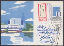 P 100, Portoger. R-Karte Nach Spanien Und Retour - DDR