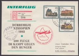 """U 1 C 3 """"Dürrehilfe Äthiopien"""", Selten ! - DDR"""