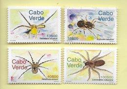 TIMBRES -  STAMPS - CAP VERT / CAPE VERDE - 2001 - DIFFÉRENTES ESPÈCES D'ARAIGNÉES  -  SÉRIE TIMBRES NEUFS - MNH - Cape Verde