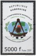Gabon Gabun 2009 Mi. 1696 Xème Conférence Mondiale Grandes Loges Régulières Franc-maçons Freimaurer Freemasonry RARE ! - Gabon