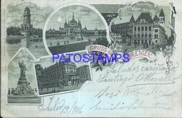 92856 GERMANY GRUSS AUS BREMEN MULTI VIEW YEAR 1906 POSTAL POSTCARD - Deutschland