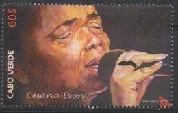 Cabo Verde 2016 -  Cesaria Evora Bataclan Paris Music Musik Mi. ?  1 Val. MNH - Cap Vert