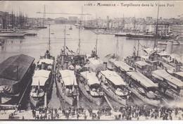 13-----MARSEILLE--torpilleurs Dans Le Vieux Port--voir 2 Scans - Monuments