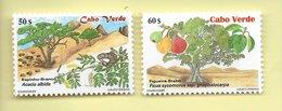 TIMBRES - STAMPS - CAP VERT / CAPE VERDE - 2001 - PLANTES - Acacia Albida Et Ficus Sycomorus-  SÉRIE TIMBRES NEUFS - MNH - Cape Verde