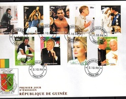 Guinea 1998, XXth Century, Chess, Pope J. Paul II, Diana, Football World Cup In Spain, FDC - Djibouti (1977-...)