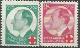YU 1936-328-9 RED CROSS, YUGOSLAVIA, 1 X 2v, MH - 1931-1941 Königreich Jugoslawien