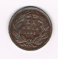 &  PORTUGAL  XX REIS 1883 - Portugal