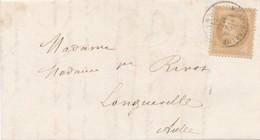 "10 C Bistre S LAC 1871 Obl Càd ""Mery-s-Seine"" TB. - 1863-1870 Napoleon III With Laurels"