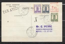Carte Lettre Par Avion Office Chérifien Des P.T.T. 29/10/1944 Pour France 4/11/44 N°205;210;212 +EMA 1,20 F RARE !!! TB - Briefe U. Dokumente