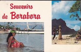 SOUVENIRS DE BORABORA--( Vahiné Sur La Plage )--voir 2 Scans - Polynésie Française