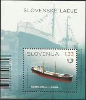 "SI 2014-1071 SHIP ""MARTIN KRPAN"", SLOVENIA, S/S, MNH - Slovénie"
