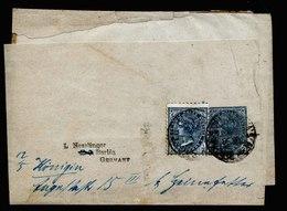 A5418) New South Wales Australia Uprated Wrapper To Germany - Briefe U. Dokumente