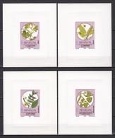 Senegal, 1990, Flora, Plants, 4 Lux Blocks, MNH** - Senegal (1960-...)