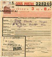 FRANCE BULLETIN D'EXPEDITION D'UN COLIS POSTAL AVEC OBLITERATION FLORENTIN LA CAPELLE 5-9-43 AVEYRON - Cartas