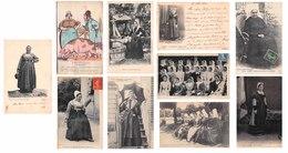 Lot De 10 CPA : Scènes Et Types Costumes Du Poitou / Poitevin - Niort Lezay Mougon Illustrateur Etc. - France