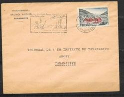 """Lettre Tana Pour TGI Tana Ets Bruno Audier Le N°365 Seul  Flamme Illustrée """" Jeune Tu Plantes Un Arbre-vieux Tu..."""" TB - Madagascar (1960-...)"""