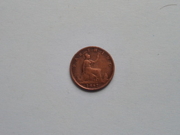 1861 - 1 Farthing / KM 747.2 ( For Grade, Please See Photo ) ! - 1816-1901 : Frappes XIX° S.