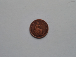 1862 - 1 Farthing / KM 747.2 ( For Grade, Please See Photo ) ! - 1816-1901 : Frappes XIX° S.