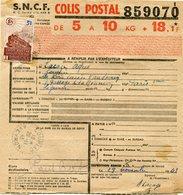 FRANCE BULLETIN D'EXPEDITION D'UN COLIS POSTAL AVEC OBLITERATION LOUPIAC 29-11-43 AVEYRON - Cartas