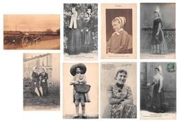 Lot De 8 CPA : Scènes Et Types Costumes Du Poitou / Poitevin - Cerisay Niort Mothaise Etc. - France