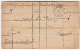 Austria Customs Document Travelled 1878 To Samac B180420 - Brieven En Documenten