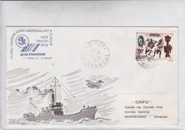 AIRMAIL AIR FRANCE 50 AÑOS CONEXION AEREA AMERICA DEL SUR-EUROPA. SENEGAL-TBE-BLEUP - Senegal (1960-...)
