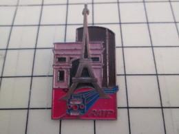 Pin411f Pin's Pins / Beau Et Rare / TRANSPORTS / RATP PARIS METRO TOUR EIFFEL ARC DE TRIOMPHE - Transportation