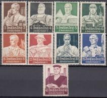 DR 556-564, Postfrisch *, Nothilfe: Berufsstände 1934 - Ungebraucht
