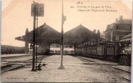 44 NANTES - La Gare, Départ De L'express De Bordeaux - Nantes