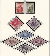 Tuva, Tannu Tuva, 1932, Scott 45-52, REGISTED, Imperforated - Tuva