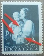 MOTHER WITH CHILD-5+5-CHARITY STAMP-ERROR-NDH-CROATIA-1943 - Croatia