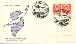 Greenland Cover Sdr. Strömfjord 27-2-1960 Sent To Dundas - Greenland