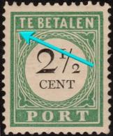 "~~ Curacao 1892/1898  - Port Postage Due - Type I Plaatfout Error ""Open Lijst"" - NVPH  P11fb * MH - CV 20.00 Euro  ~~~ - Curaçao, Antilles Neérlandaises, Aruba"