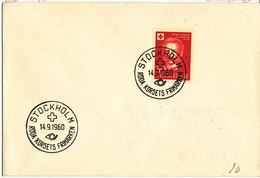 Sweden Cover With RED CROSS Stamp And Postmark Stockholm 14-9-1960 - Sweden