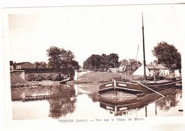45 Vesines - Vue Sur Le Canal De Briare .édit CFM ,peniche En Beau Plan , Non Circulée,tb état. - Autres Communes
