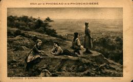 """PUBLICITE PHOSCAO Et Phoscao Bébé """" Plaisirs D'Enfants"""" - Cartes Postales"""