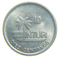 [NC] CUBA - INTUR EXCHANGE COIN - 10 CENTAVOS 1989 - Cuba