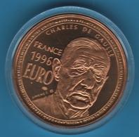 FRANCE 1 Euro 1996 Charles De Gaulle Essai Trésor Du Patrimoine JIMENEZ - Private Proofs / Unofficial