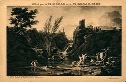 """PUBLICITE PHOSCAO Et Phoscao Bébé """" Les Baigneuses"""" - Cartes Postales"""
