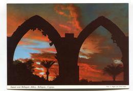 Cyprus - Sunset Over Bellapais Abbey - John Hinde Modern-size Postcard - Cyprus