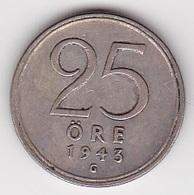 25 Öre Münze Aus Schweden (vorzüglich) 1943 Silber - Schweden