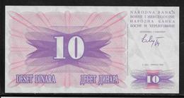 Bosnie-Herzegovine - 10 Dinara - Pick N° 10 - NEUF - Bosnie-Herzegovine